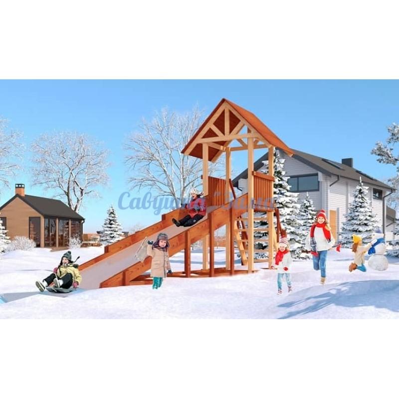 Зимняя деревянная игровая горка Савушка Зима - 5