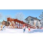 Зимняя деревянная игровая горка Савушка Зима - 6