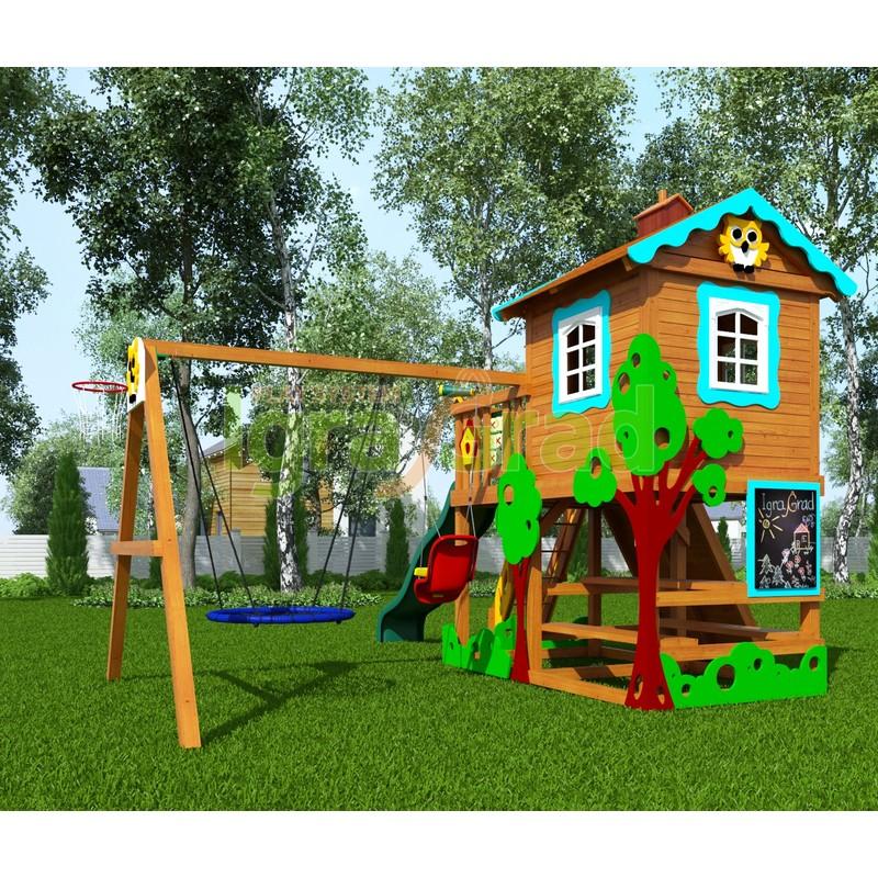Детская деревянная площадка IgraGrad Домик 2 Совёнок