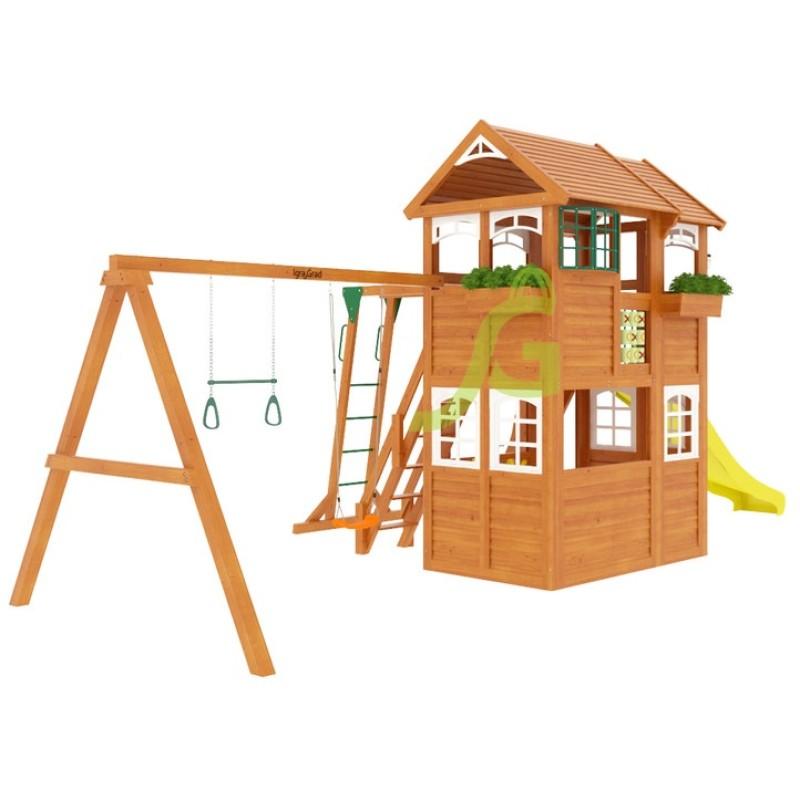 Детская площадка IgraGrad Клубный домик 2 с рукоходом Luxe
