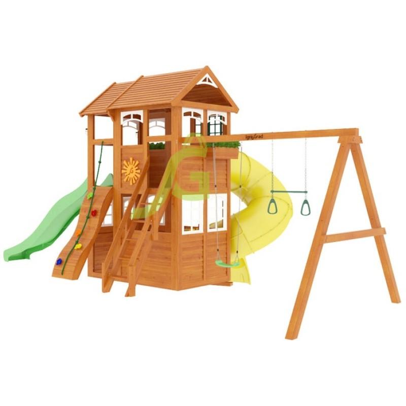 Детская площадка IgraGrad Клубный домик 2 с трубой Luxe
