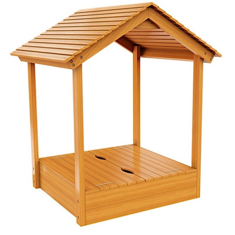 Детская песочница IgraGrad с деревянной крышей