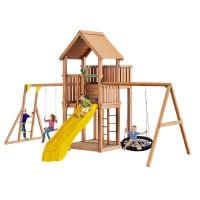 Детские городки Jungle Palace + Swing X'tra с гнездом + рукоход с качелей