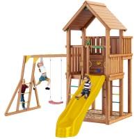 Детский игровой спортивный комплекс Jungle Gym Jungle Palace + Рукоход + сидушка