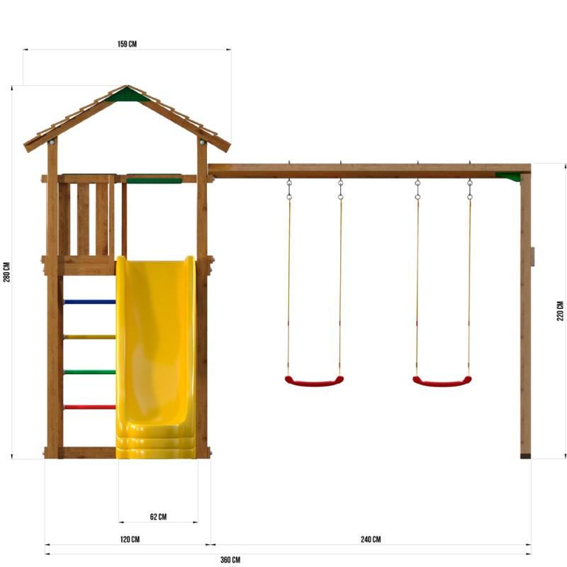 Игровая площадка Jungle Gym JC8 Троодос