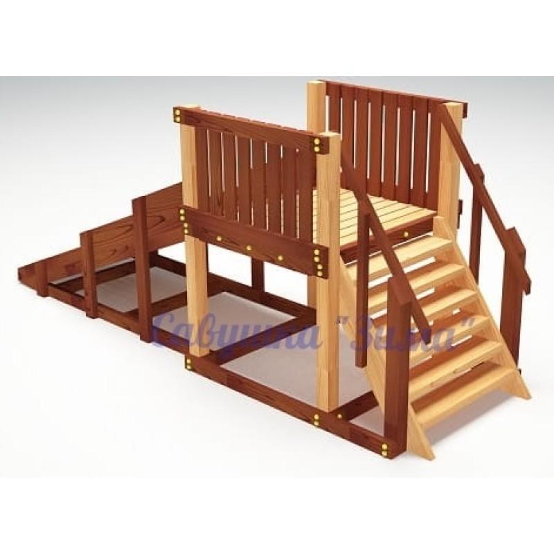 Зимняя деревянная игровая горка Савушка Зима - 1