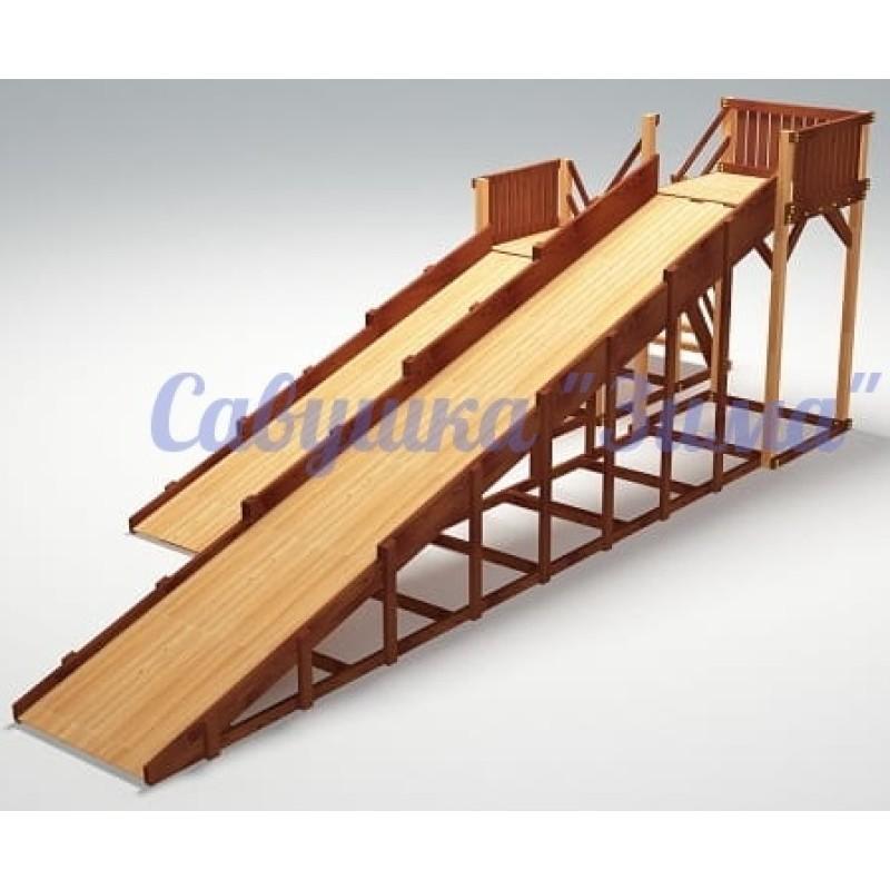 Зимняя деревянная игровая горка Савушка Зима - 7