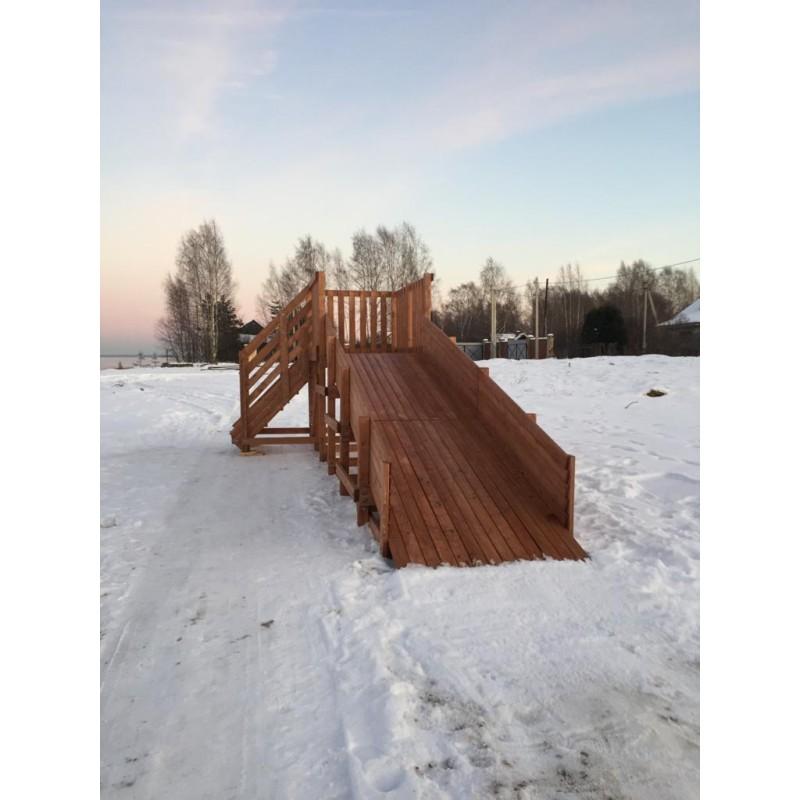 Деревянная горка MoyDvor SWAN-1