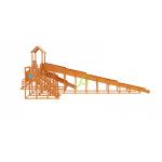 """Зимняя деревянная горка """"Snow Fox 12 м"""" с двумя скатами (две лестницы)"""