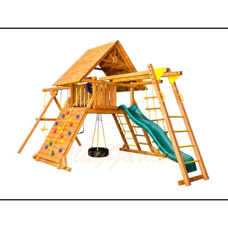 Игровая  площадка Playgarden Original Castle II с рукоходом