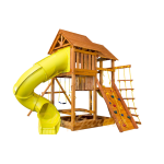 Игровая  площадка Playgarden SkyFort Deluxe с двухволновой горкой и горкой трубой