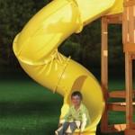Горка винтовая спиральная труба - Высота 1.5 м