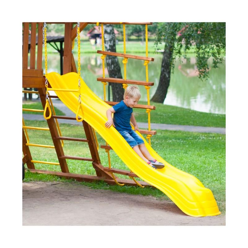 Горка пластиковая с двойной волной - Желтая (Double Wave Slide Yellow)