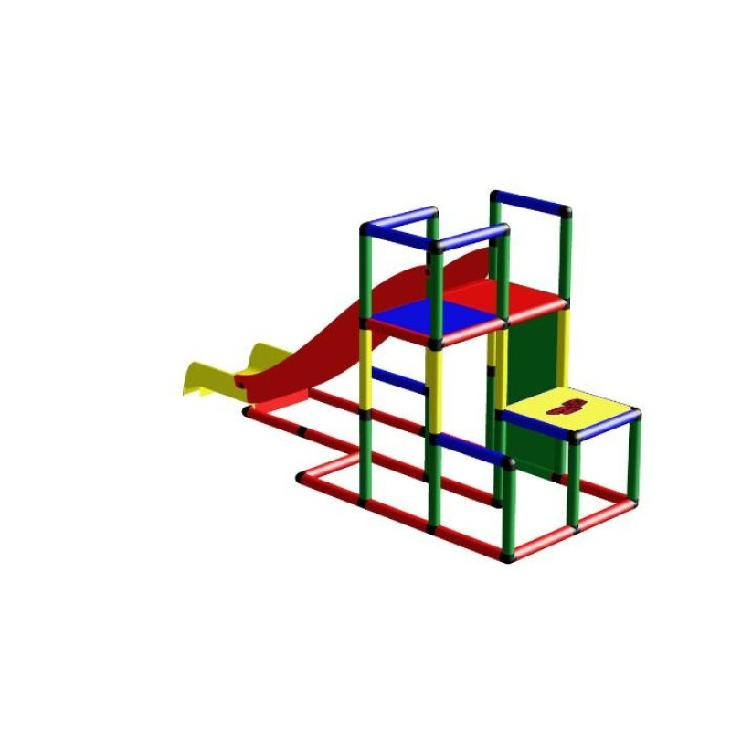 Мега конструктор QUADRO STARTER + Модульная горка