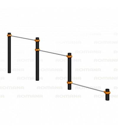 Воркаут тройной каскад турников для отжиманий и подтягивания Romana 501.10.01