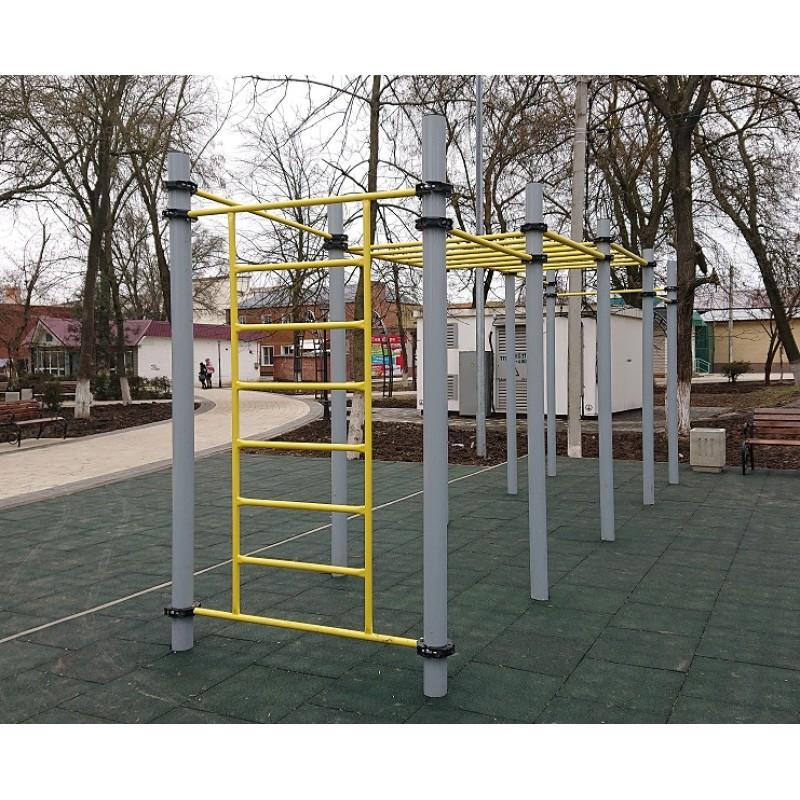 Воркаут комплекс с двумя рукоходами для занятий Workout Romana 501.17.01