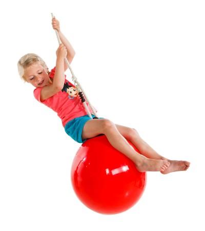 Качели - шар 41 см красный