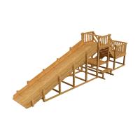 Зимняя деревянная горка Выше Всех Ледянка 2 скат 8 м