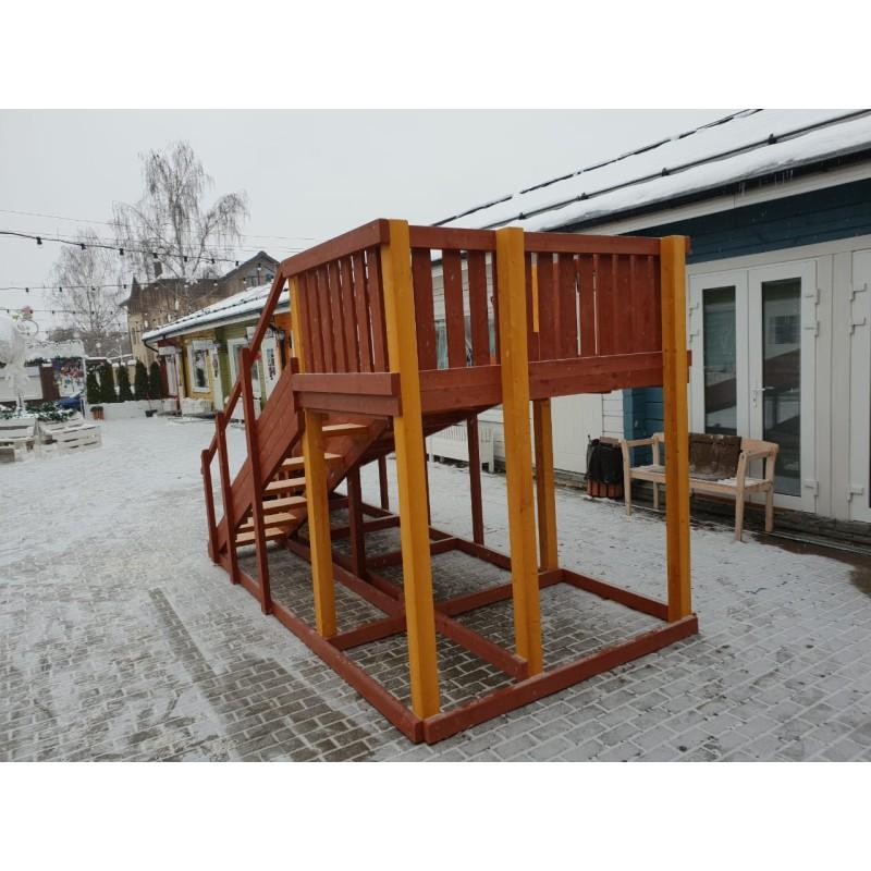 Зимняя деревянная игровая горка Савушка Зима - 3
