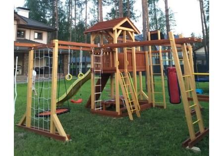Сборка комплекса Мир Детских Площадок из серии Семейная недалеко от Токсово